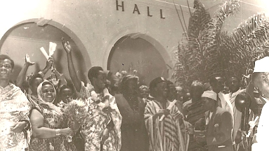 1961 Uhuru Day in Karimjee Hall