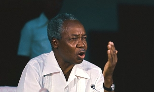 Julius Nyerere Speaking at News Conference