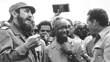 Fidel Castro and Julius Nyerere, Ruvu, Tanzania March 1977