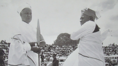 Nyerere congrats in Iringa, after Kagera war victory 1979