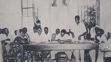 Nyerere with TANU Members