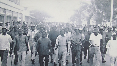 Nyerere on Arusha Declaration March in Dar-es-Salaam