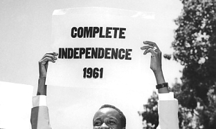 Nyerere on independence day 1961