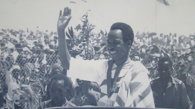 J.K. Nyerere on independence day 1961