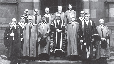 1962, Nyerere receiving his honorary second degree from the University of Edinburgh