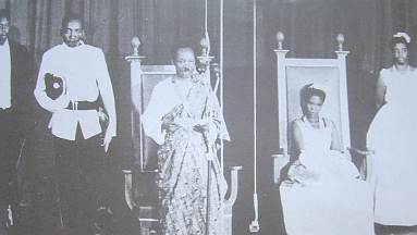 Nyerere opens parliament with Mama Maria aside