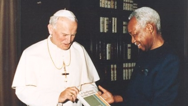 Nyerere with Pope John Paul II