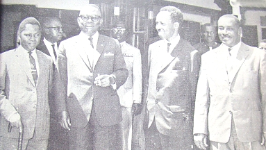 Nyerere with President Tubman