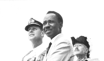 Celebrating Independence Day in 1961 with Duke of Edinburgh