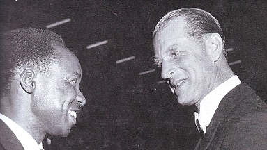 Nyerere with Prince Philip 1961