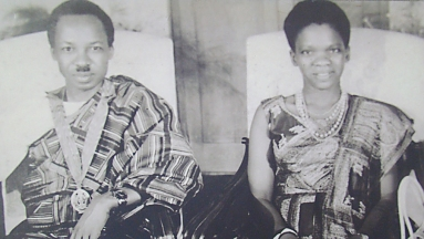 Nyerere with wife Maria 1961